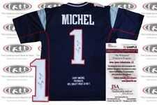 "Sony Michel Signed Custom ""Draft Pick"" Pro Style Jersey  JSA Witnessed"