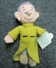 DOPEY PLUSH BEANIE CHARACTER MADE BY APPLAUSE IN 1990'S ~ NEW WITH ORIGINAL TAG