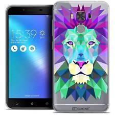 """Coque Housse Etui Pour Asus Zenfone 3 Max Plus ZC553KL (5.5"""") Polygon Animal Sou"""