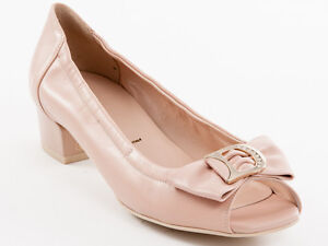 New Donna Serena Pink Leather Made in Italy Shoes Size 37.5 US 7.5