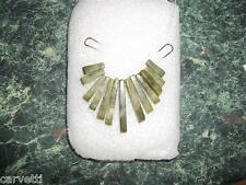 "Nephrite Jade Mini Collar, Egyptian Fan 13 pieces Height 1.25"" Width 1.5"""