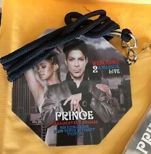Prince 2010 Welcome 2 America Laminate backstage VIP pass
