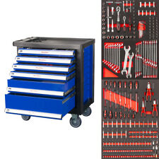 AKTION! Werkstattwagen gefüllt mit Werkzeug aus CRV Schaumeinlagen Werkzeugwagen