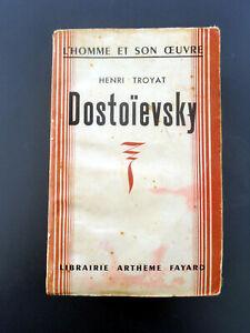 livre ancien : Dostoîevsky, Henri Troyat, 1942 Éditions Fayard