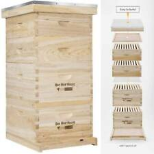 Langstroth Bee Hive 32 Frame 2 Deep 2 Medium Boxes With Metal Roof Queen Excluder