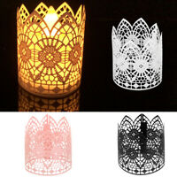 6pcs Tea Light Candle Lampshade Holder Votive Wedding Party Vintage Table Decor