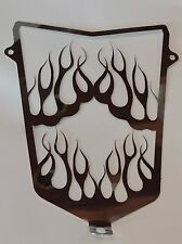 YAMAHA RAPTOR 700 700R FLAMING FLAMES GRILL MIRRORED FINISH STAINLESS ST