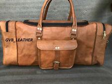 Leather Beautiful Retro Duffel Travel Luggage Vintage Lightweight Weekend Gym