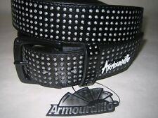 Armourdillo Riddle Belt Black Split Leather NWT Size L Mens