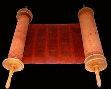 Komplettes Selten Handgeschrieben Torah Bibel Rolle Reh Haut 250 Jahre Jemen
