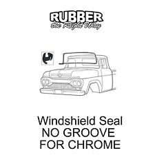 1957 1958 1959 1960 Ford Truck Windshield Seal - NO GROOVE FOR CHROME