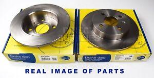 2 REAR AXLE BRAKE DISCS CHEVROLET ASTRA OPEL VAUXHALL ASTRA MERIVA COMBO ADC1106