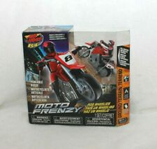New Red Air Hogs RC Moto Frenzy Stunt Motorcycle w/ Rider - Radio Controlled