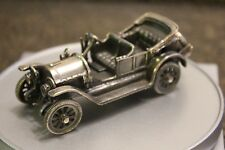 Antique 800 Silver Miniature Car Figurine