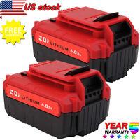 2Pack 6.0Ah Lithium 20 Volt Battery for PORTER-CABLE 20V PCC685L PCC680L PCC682L