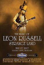 """STRANGE LAND """"THE MUSIC OF LEON RUSSELL"""" 2017 NEW YORK CITY CONCERT TOUR POSTER"""