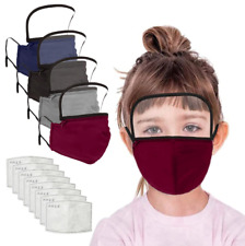 1X Child Outdoor Face Protective Face Mask with Eyes Shield + 2 Filters