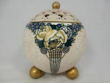Beautiful Ernst Wahliss Art Nouveau Alexandra Porcelain Works potpourri Austria