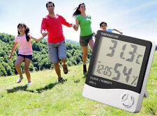 Digital LCD Thermometer Hygrometer Temperature Humidity Meter Gauge Clock 2016