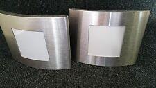 2er Bilderrahmen Metall Silber ca.12,5 cm x10cm Metallrahmen Fotorahmen Stand F4