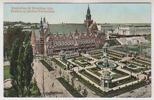 Bruxelles Exhibition 1910 postcard - Pavillon et Jardins Neerlandais