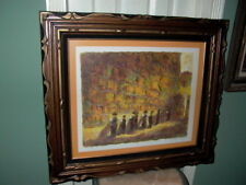 Wailing Wall Framed Judaica Signed Art Print BFK Rives