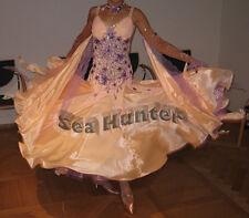 Ballroom Smooth Standard Waltz Quickstep US6 Dance Dress#B3316 Yellow/orange