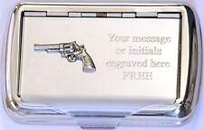 Pistol Revolver Tobacco Hand Rolling Roll Ups Tin Modern Handgun Gift