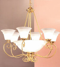 40210 G-Chandelier, Gold Plated, Made In Italy,