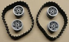 Lego NXT Technic Mindstorm Treads Tank Tractor Parts Gray Treads & Hubs