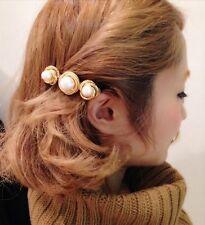 Women Fashion Mini Chic Bridal Gold Pearl Flower Hair Pins Clips Bridesmaid Gift