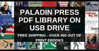Paladin Press/Loompanics Complete Book Library FREE SHIPPING - USB Flash Drive