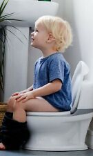 Real toddler potty training toilet with flush button and sound for toddler, Whit