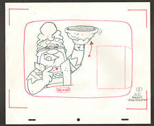 "Flintstones Animation Art - ""Rock Rockstone"" Masked Barney Yummy Pebbles #3"