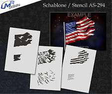 Step by Step Airbrush Stencil AS-294 M ~ Template ~ UMR-Design