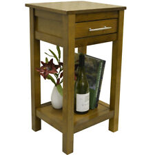 REGIA - Solid Wood Storage Telephone / End Table - Walnut OC3380