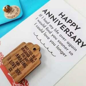 Anniversary Gift, HusbandGift, Wife Card, Wood, Wooden Gift, 5th Wedding