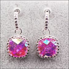 "Rose Rainbow Mystic Topaz Sterling Silver Earrings ""SALE was £11.95 now £8.95"""