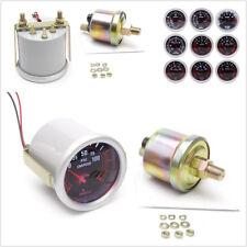 1 Pcs 2'' 52mm LED Vehicle Turbo Oil Pressure Gauge Meter Smoke Tint Lens+Sensor
