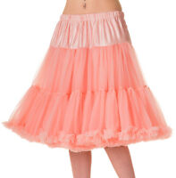 "BANNED 50s Dress Rockabilly Starlite Petticoat Under Skirt 20"" 10 12 14 16 PINK"