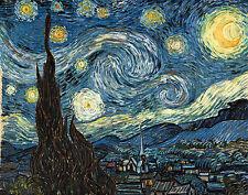 Die Sternennacht Zypressen The Starry Night Bütten & CD Vincent van Gogh A3 031