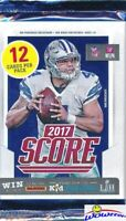 2017 Score Football Factory Sealed Retail Pack-12 Cards w/3 RCs! Mahomes RC Year