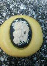 Skeleton lolita lady cameo SILICONE push mold mould polymer clay resin sugar