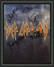 Def Leppard  - A4 SIGNED AUTOGRAPHED PHOTO POSTER  FREE POST