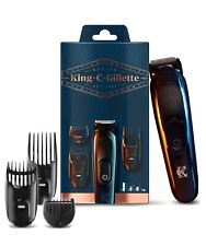 King C. Gillette Beard & Hair Trimmer With 3 Combs & 11 Length Settings/Cordless