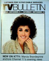 TV Guide 1984 Marcia Brandwynne Regional TV Bulletin OC Vintage EX COA