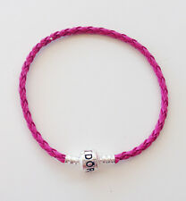 Water Red Leather Bracelets Chain Bangle Fit 925 European Charms/Beads