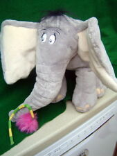 Horton Hears a Who Elephant with a mini Book new 12 inches tall 14 inches long