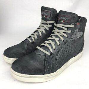TCX Street Ace Air 9415 Anthracite Gray Black Motorcycle Shoes Size 11, EU 45