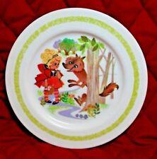 Vtg Oneida Deluxe LITTLE RED RIDING HOOD CHILDS PLATE #3119 60s Rare